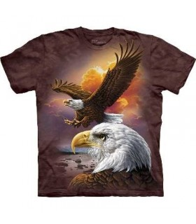 Eagle and Clouds - Birds T Shirt by the Mountain