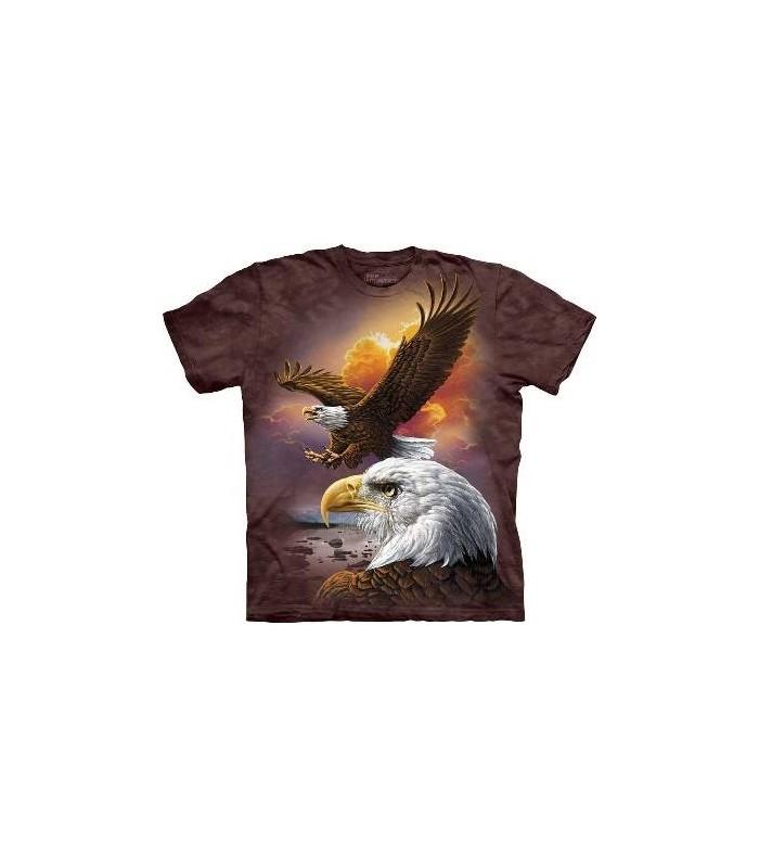T-Shirt Aigle et Nuages par The Mountain