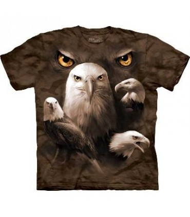 Eagle Moon Eyes - Birds T Shirt by the Mountain