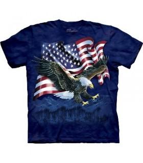 T-Shirt Aigle et Drapeau par The Mountain