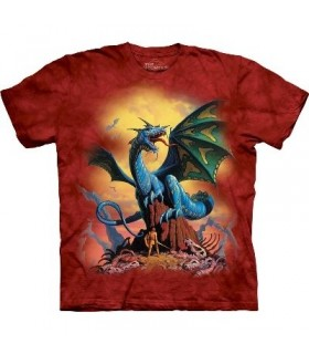 T-Shirt Dragon Bleu par The Mountain