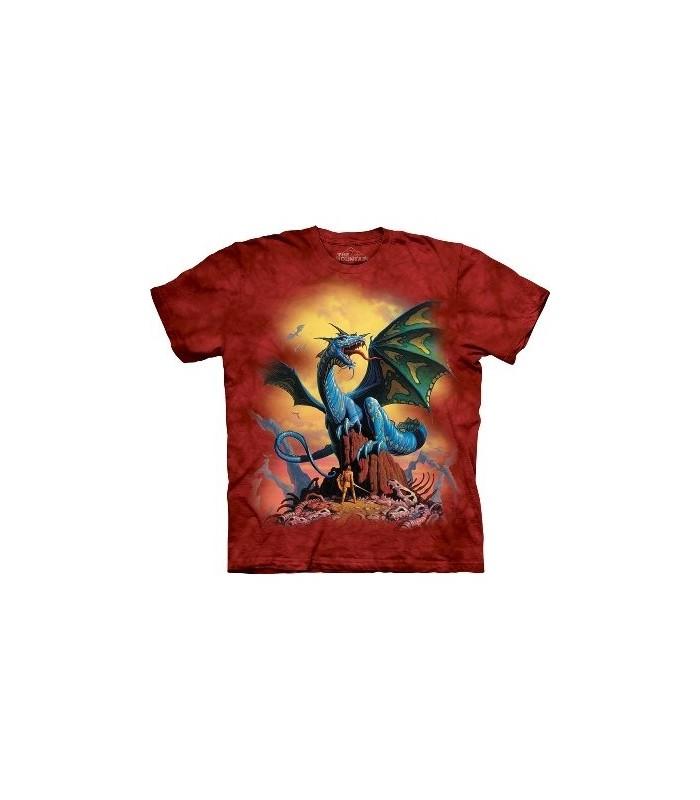 T-Shirt Dragon Bleu par The Mountain