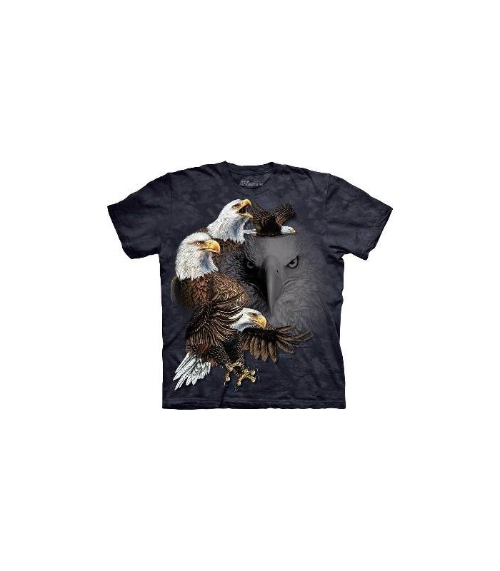 Find 10 Eagles - Birds T Shirt by the Mountain