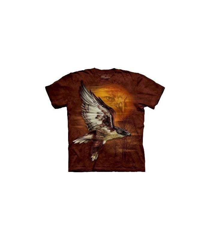 T-Shirt Faucon dans le Soleil par The Mountain