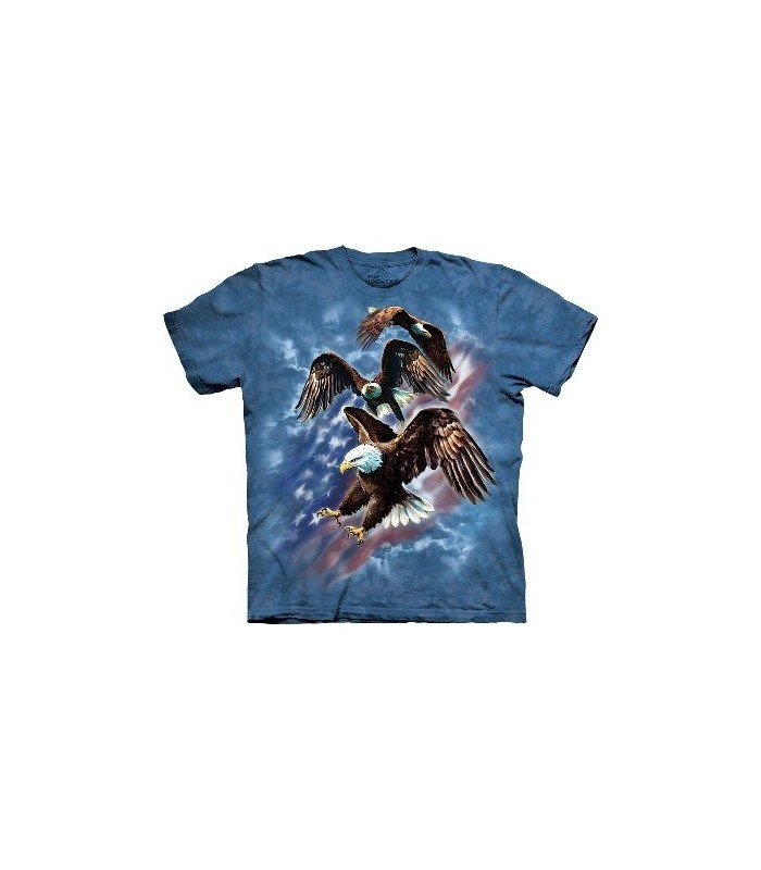 Patriotic Eagle Collage - Eagles T Shirt by the Mountain