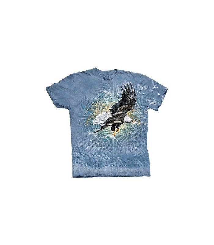 Soaring Eagle - Bird T Shirt by the Mountain