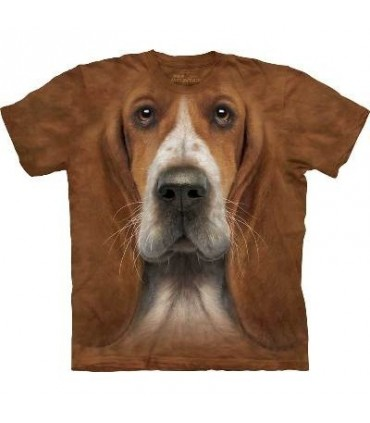 Basset Hound Head - Dogs T Shirt by the Mountain