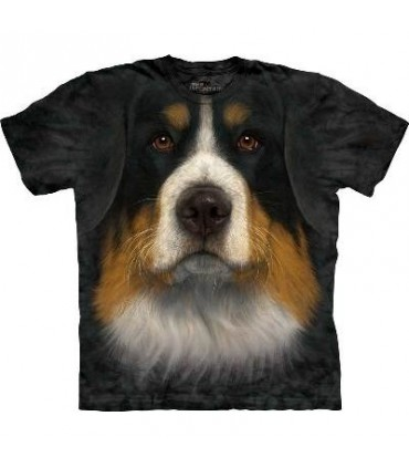 Bernese Mountain Dog Face - Dogs T Shirt by the Mountain