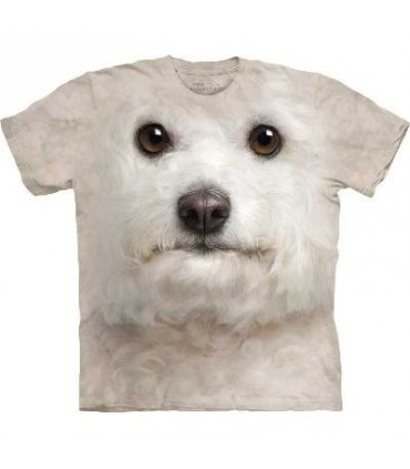Bichon Frise Face - Dogs T Shirt by the Mountain