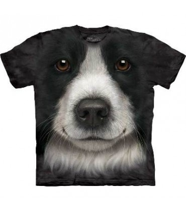 Border Collie Face - Dogs T Shirt by the Mountain