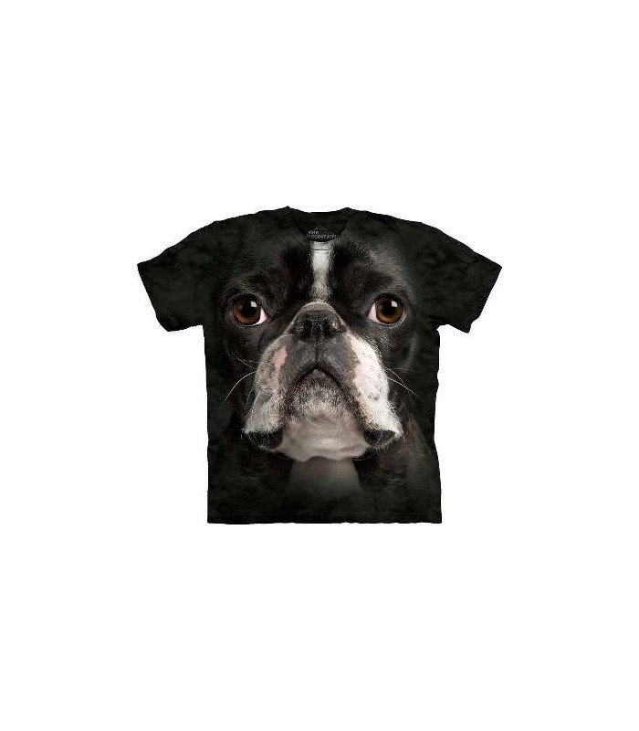 Boston Terrier Face - Dogs T Shirt by the Mountain