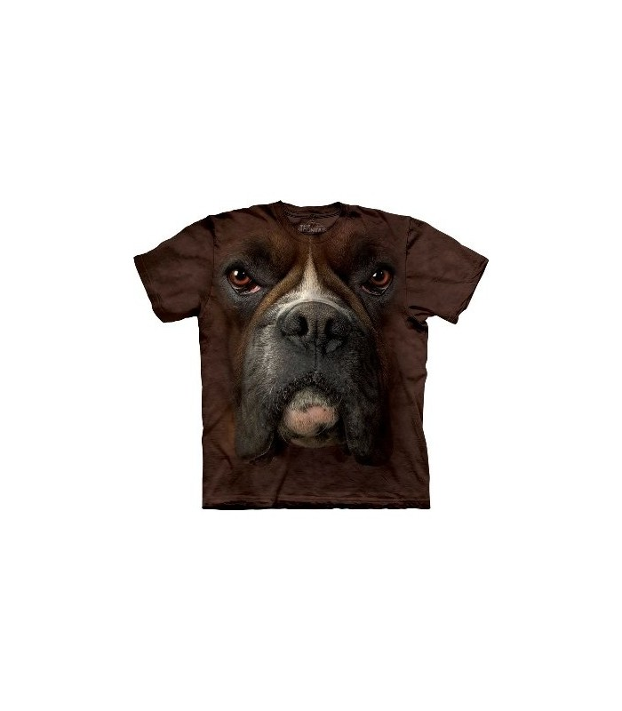 Boxer Face - Dogs T Shirt by the Mountain