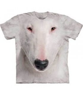 Bull Terrier Face - Dogs T Shirt by the Mountain