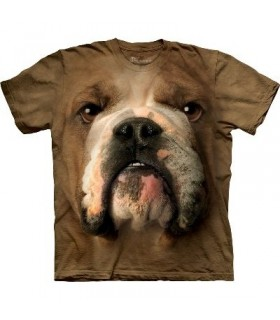 Bulldog Face - Animals T Shirt by the Mountain