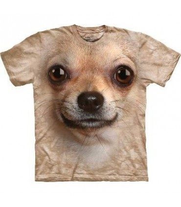 Chihuahua Face - Dog T Shirt by the Mountain