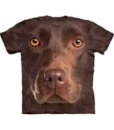 Chocolate Lab Face - Dogs T Shirt by the Mountain