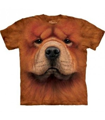 Chow Chow Face - Dogs T Shirt by the Mountain