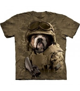 Sam chien de combat - T-shirt Manimal par The Mountain