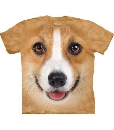 Corgi Face - Dogs T Shirt by the Mountain