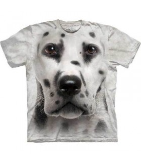 Dalmatian Face - Dogs T Shirt by the Mountain