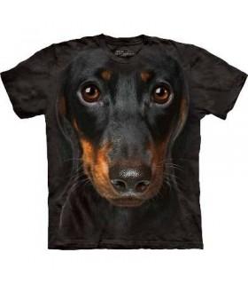 Daschund Face - Dog T Shirt by the Mountain