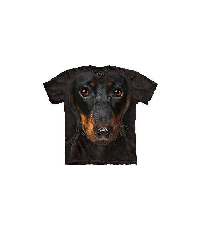 Daschund Face - Dog T Shirt by the Mountain