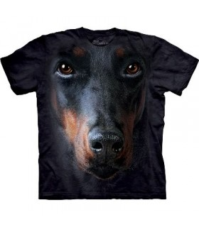 Doberman Face - Dogs T Shirt by the Mountain