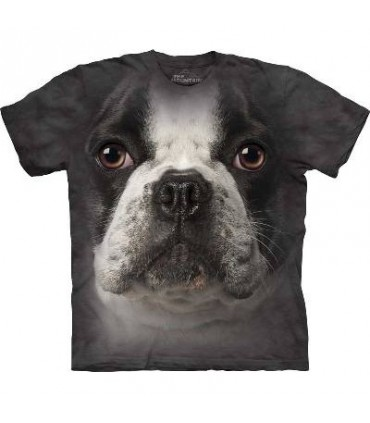 French Bulldog Face - Dog T Shirt by The Mountain