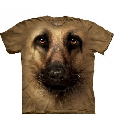 German Shepherd Face - Dogs T Shirt by the Mountain