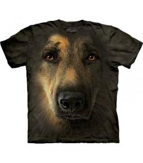 German Shepherd Portrait - Dogs T Shirt by the Mountain