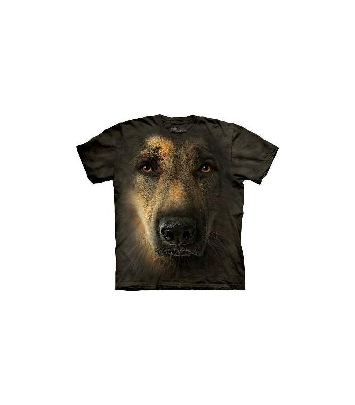 T-Shirt portrait de Berger Allemand par The Mountain