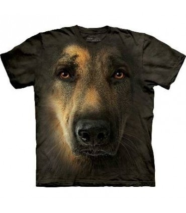 German Shepherd Portrait - Dogs T Shirt by the Mountain