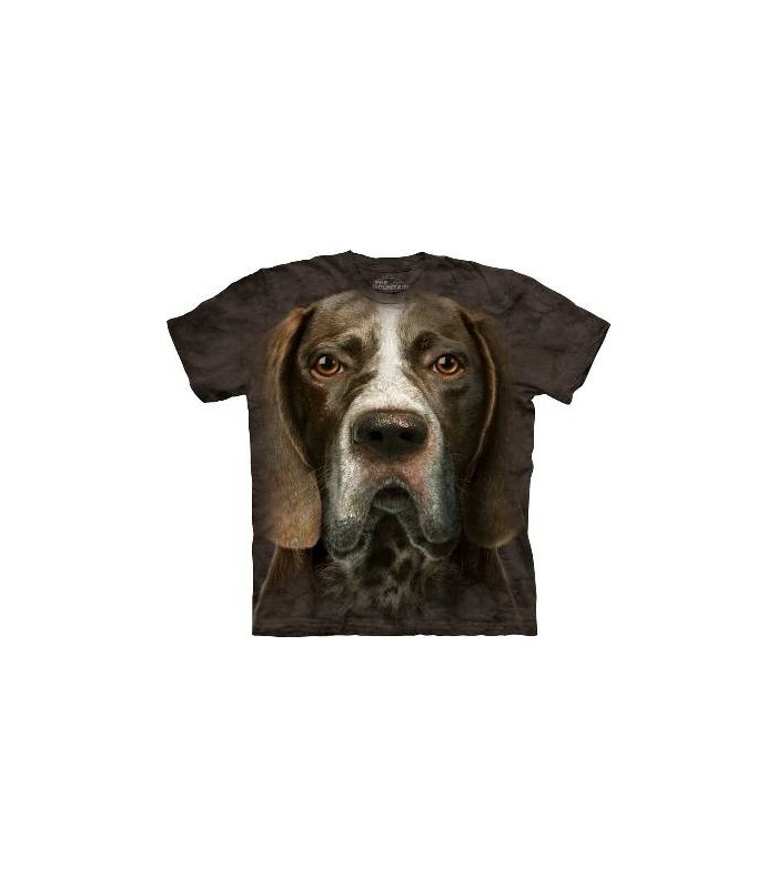 German Shorthaired Pointer Head Dog T Shirt by the Mountain