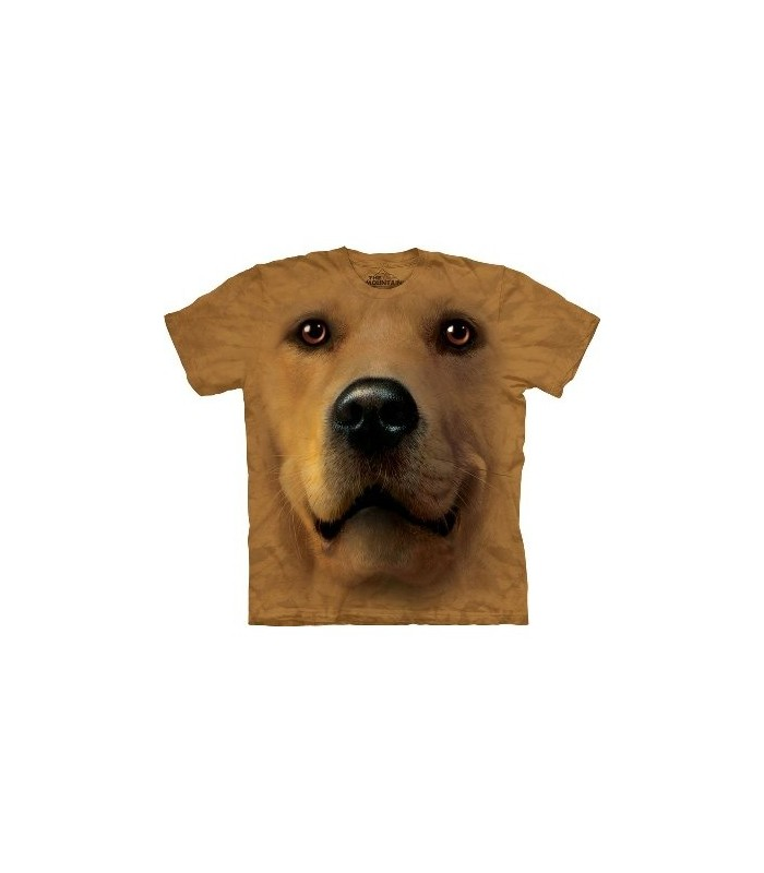 Golden Face - Dogs T Shirt by the Mountain