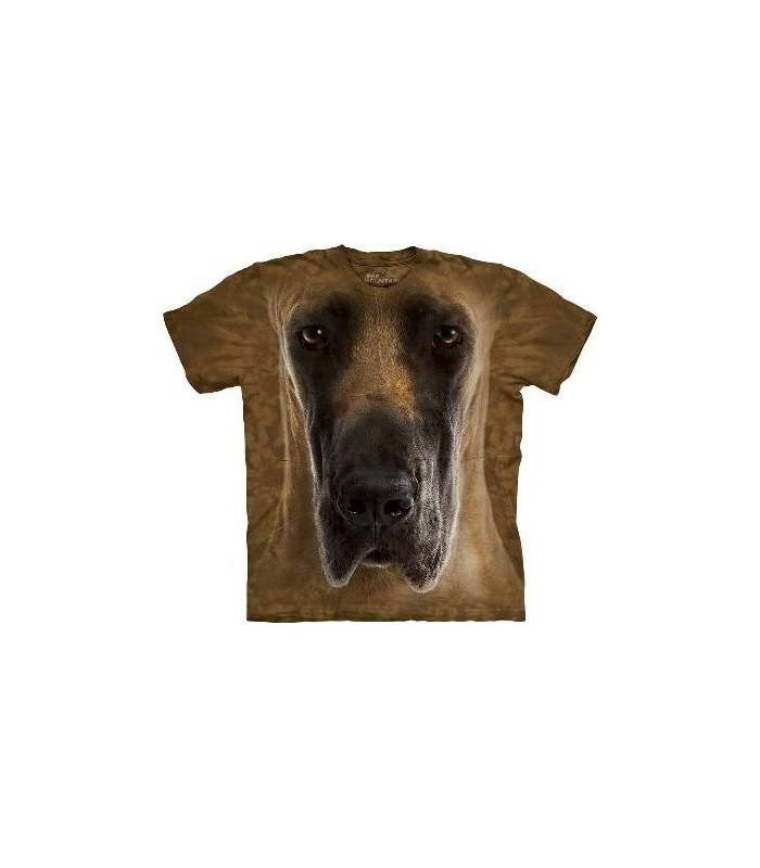 Great Dane Face - Dogs T Shirt by the Mountain