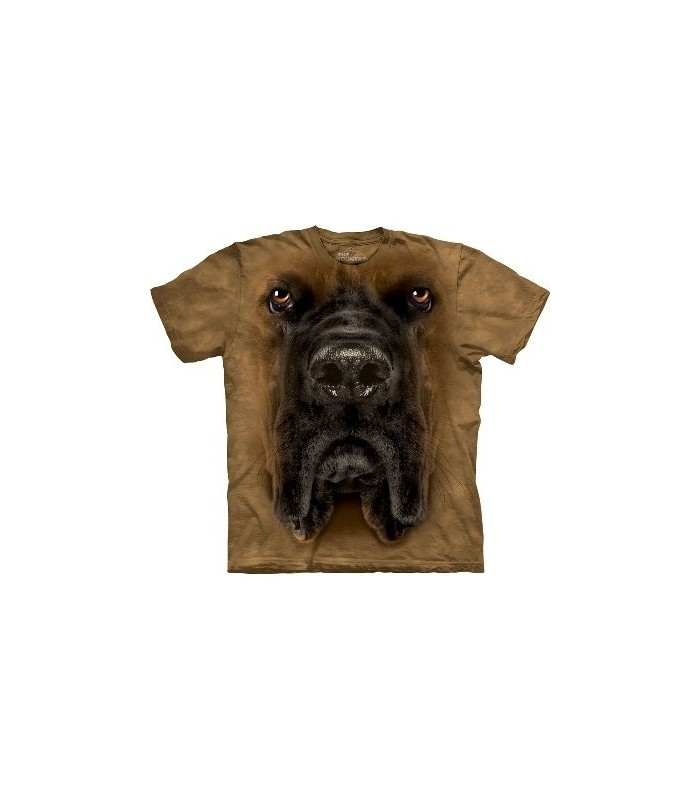 Mastiff Face - Dogs T Shirt by the Mountain