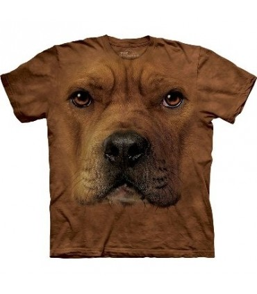Pitbull Face - Dogs T Shirt by the Mountain