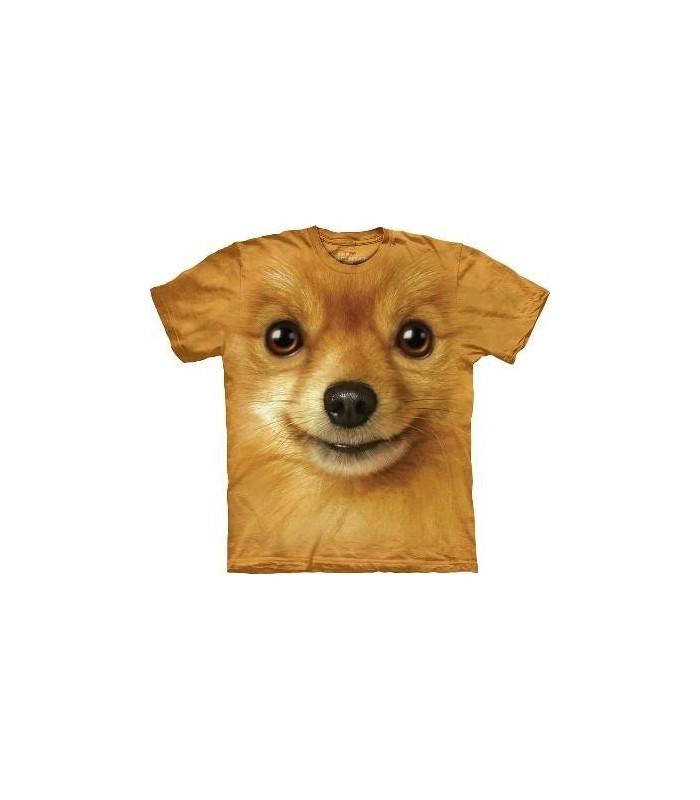 Pomeranian Face - Dog T Shirt by the Mountain