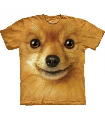 Pomeranian Face - Dog T Shirt by the Mountain