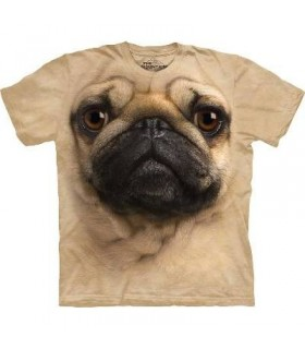 Pug Face - Dogs T Shirt by the Mountain