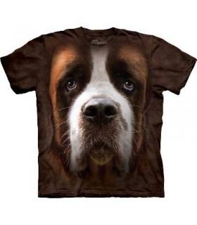 Saint Bernard Face - Dogs T Shirt by the Mountain