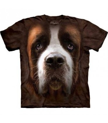 Saint Bernard Face - Dogs T Shirt by the Mountain