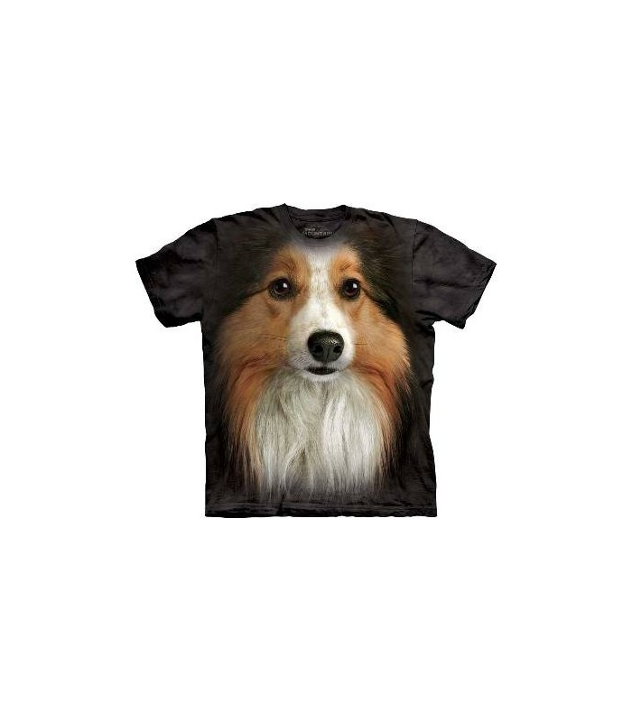 Sheltie Face - Dog T Shirt from the Mountain