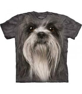 Shih Tzu Face - Dog T Shirt by the Mountain