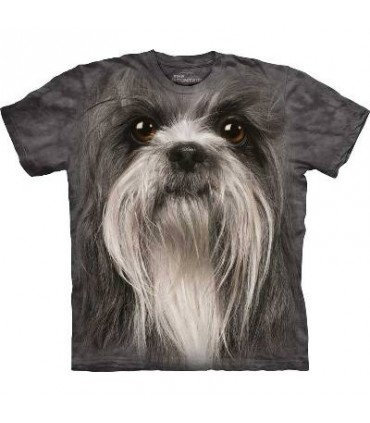 Shih Tzu Face - Dog T Shirt by the Mountain