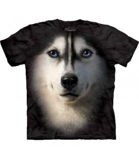 Siberian Face - Dogs T Shirt by the Mountain
