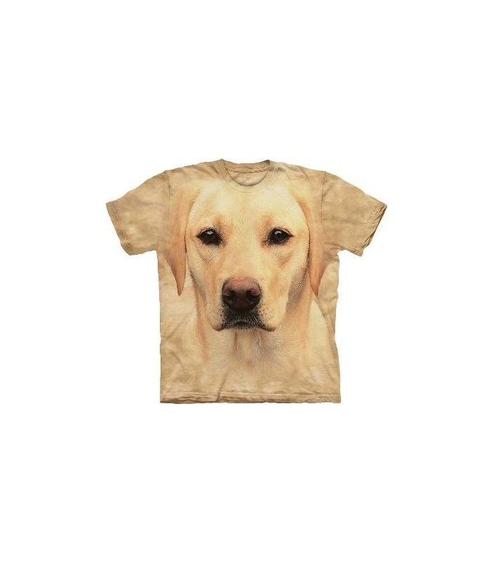 Yellow Lab Portrait - Dog T Shirt by The Mountain
