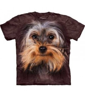 Yorkshire Terrier Face - Dogs T Shirt by the Mountain