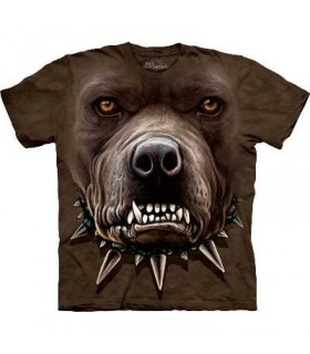 Zombie Pitbull Face - Dogs T Shirt by the Mountain