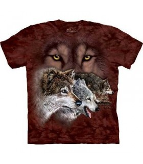Trouver 9 Loups - T-shirt Loup The Mountain